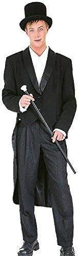 Fancy Me Herren Showman Zauberer Zirkusdirektor Tv Buch Film Zirkus Musikalisch Maskenkostüm Frack - Schwarz Medium (EU 48 50)