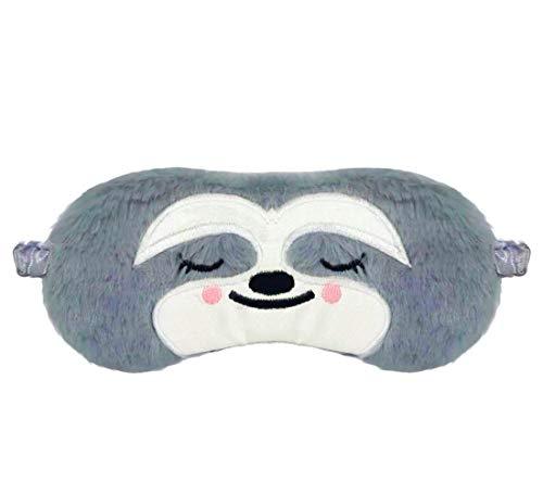 dressfan Nette Tier Faultier Schlafmaske Cartoon Augenklappe Atmungsaktiv Flauschige Augenmaske Für Schlaf Reisen Kinder Erwachsene Dame,Mehrere Stile (E-Grau, One Size)