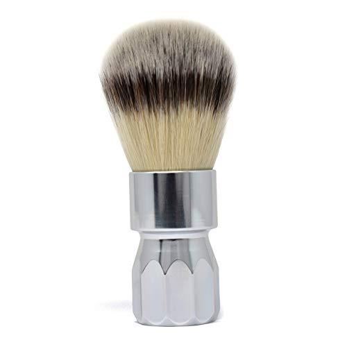 Alpha Wee Man Aluminium Generation 4 Synthetic Fibre Travel Shaving Brush with 26mm Knot