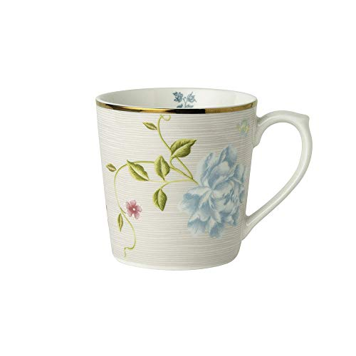 Laura Ashley - Becher, Tasse - Cobblestone Pinstripe - Porzellan - 350 ml