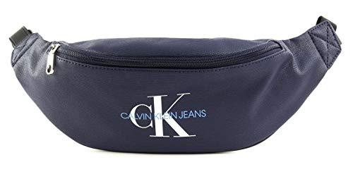 Calvin Klein COATED COTTON ROUND STREET PACKHombreShoppers y bolsos de hombroAzul (Medieval Blue) 8.5x11x28 centimeters (B x H x T)