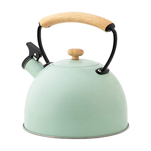 Hervidores de té silbantes con hierve más rápido, 2,5 l, acero inoxidable, hervidores de té de estufa silbando para utensilios de cocina