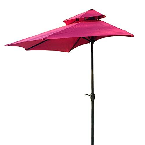 WGFGXQ Sombrilla Lateral para sombrilla, semicircular, 270 cm 8,9 pies, sombrilla para balcón, sombrilla con función de manivela, Parasol de Pared Exterior Doble para jardín, Patio, balcón