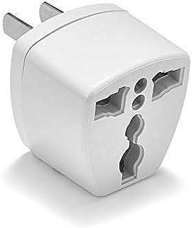 全世界対応マルチ変換プラグA型(海外電化製品を日本で利用) A,BF, C, B3, O,B, コンセント変換アダプター 電源形状変換プラグ 世界の家電を日本で使える, 世界のコンセントを日本仕様に変換(ホワイト)