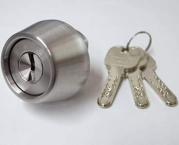 MIWA(美和ロック) JNシリンダー LZ-2タイプ 鍵 交換 取替え LZ2 MCY-259 MIWA KABA LZ/LZSPシルバー色(HG)28〜34mm