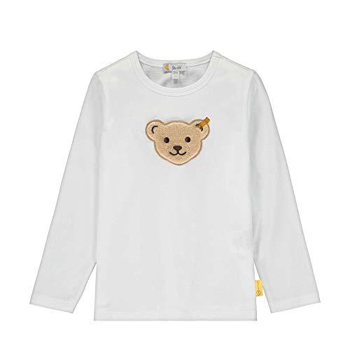 Steiff Jungen T-Shirt Langarm Langarmshirt, Weiß (Bright White 1000), 80 (Herstellergröße: 080)