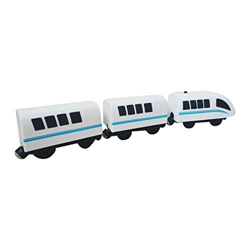 Tren de locomotora de acción operada por B Rio, T Homas, potente tren de bala, para pistas de madera B Rio, T Homas, juguete de tren magnético eléctrico para niños y niñas, regalo de cumpleaños