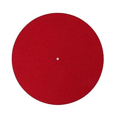 Yinuneronsty Turntable Mat Slipmat Audiophile 3mm Vinyl Record Player Anti Vibration Durable Antistatic