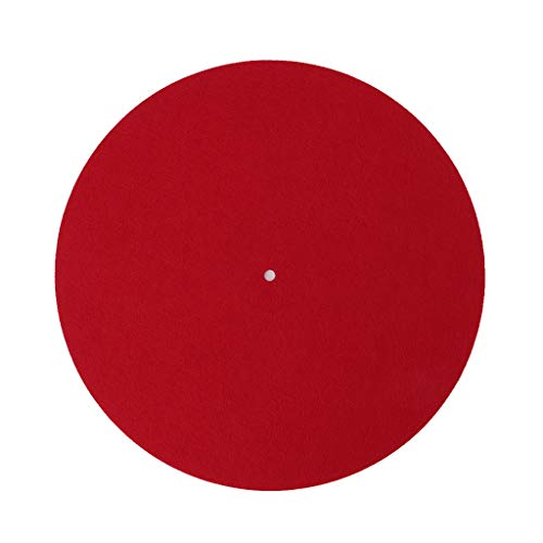 ZOUCY Plattenspieler-Matte Slipmat Audiophile 3mm Filzplatte Plattenspieler Anti-Vibration Durable Anti-Static