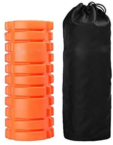 HomeZone Foam Roller 2 in 1 with Carry Bag Travel Fitness Equipment Foam Muscle Roller Deep Tissue Therapy Yoga Trigger Point Fitness Physio Balance