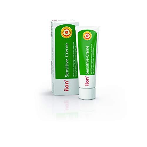 ilon Sensitive-Creme - hochwertige Intensivpflege für trockene und empfindliche Haut. Bewahrt die Haut vor Austrocknung und wirkt Hautirritationen entgegen, verbessert den Feuchtigkeitsgehalt spürbar