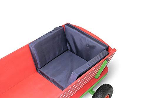 Beachtrekker Sitzkissen Style, Blau (geeignet für div. andere Holzbollerwagen)