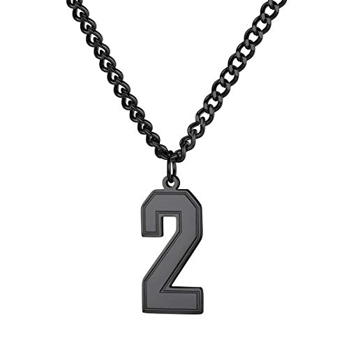 Goldchic Jewerly 0-9 Lucky Number Hanger Ketting, Kan 2 Cijfers, 3 Cijfers Charme, 316l Roestvrij Staal Sport Charme Aanpassen