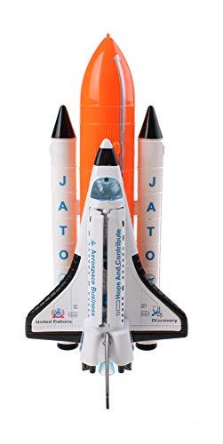 JohnToy 26055 Space Shuttle Speilset Groß mit Licht und Geräusch, Mehrfarbig
