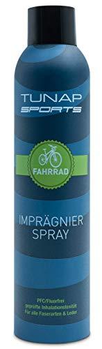 TUNAP SPORTS Imprägnierspray 300 ml, schützt Textilien beim Outdoor Sport, macht die Kleidung wasserdicht