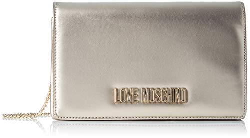 Love Moschino Unisex-Erwachsene Jc4126pp18ly0901 Kuriertasche, Gold (Oro), 14x6x22 centimeters