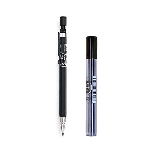 Folewr-8 - Portaminas de 2 mm y recambios, bolígrafo automático mecánico para niños, estudiante