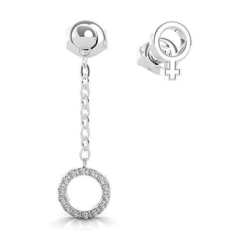 orecchini guess Ubs29027 Sette Pianeti Venere Simbolo in acciaio inox Swarovski placcato Rhodium Cerco