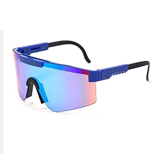 Pit-ViperS Gafas de sol deportivas polarizadas, Gafas de protección polarizadas de doble ancho UV400, Gafas de sol estilo deportivo, Gafas de sol de aviador vintage, para ciclismo Béisbol Correr