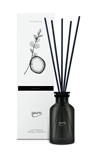 ipuro Classic noir Raumduft - Raumduft mit orientalischer Wirkung - Lufterfrischer mit hochwertigen Inhaltsstoffen 75 ml - aus Glas mit Rattanstäbchen