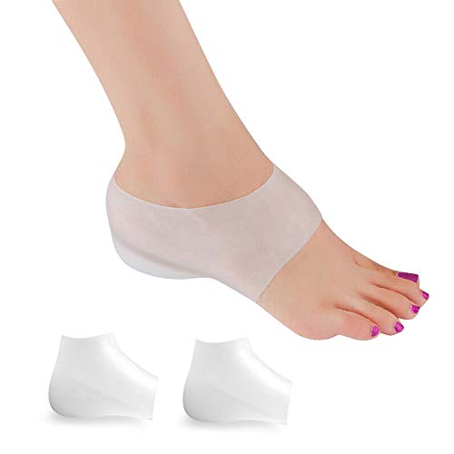 Invisible Height Increase Insole, Wearable Heel Cushion Inserts Shoe Soft Silicone Heel Lift Insole Leg Lengthen for Men and Women, 1.4in
