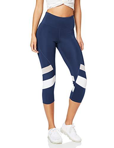 Amazon Brand - AURIQUE Leggings deportivos capri paneles
