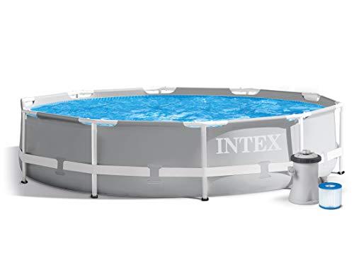 Global 7in1 Set Gartenpool Prism 305 x 76 cm Metal Frame Pool mit Filterpumpe 1250 L/Stunde INTEX 26700
