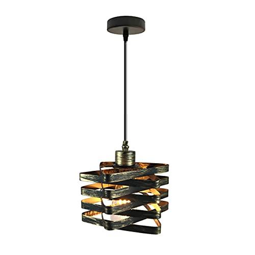 HLigExp - Lámpara de techo para balcón o escalera, diseño retro, ideal para cafeterías, bares o cocinas (bombillas no incluidas)
