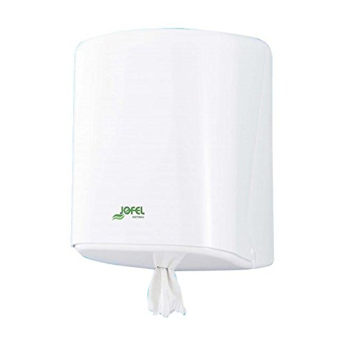 Jofel AG40700 Dispensador de Papel Mecha Azur (Box), ABS Blanco Antibacteriano