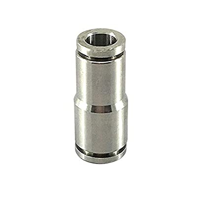 Metalwork Metric 304 Stainless Steel Reducing Push to Connect Air Fitting, Reducer Straight Union