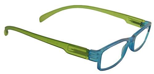 Lesebrille LONG blau/grün, 2.0