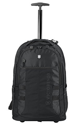 Victorinox VX Sport Wheeled Cadet Backpack with Pass Thru Sleeve, Black, 20.9-inch