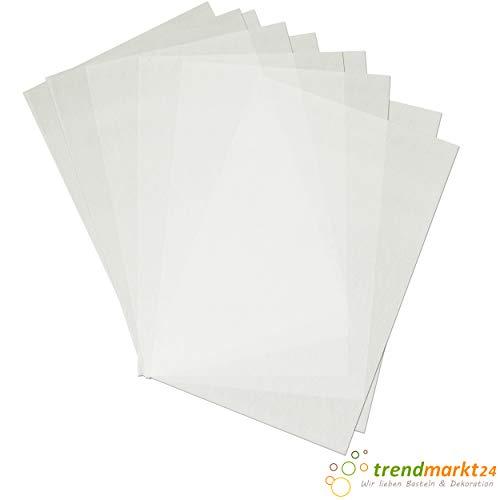trendmarkt24 Schrumpffolien-Platten Transparent, mattiert im 10er Pack Plastikfolie 20x30 cm Bastelfolie Zum Bemalen mit Faser- und Buntstiften Folie Zum Erhitzen 71051900