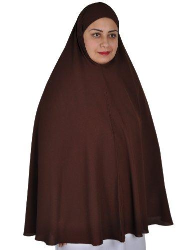 Egypt Bazar Khimar Hijab - Disfraz de oracin islmica marrn Talla nica