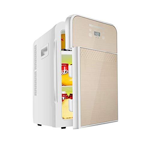 22L Digital Display Version Car koelkast, een koelkastje 12v 220v, Dual-core Refrigeration Household Small Cooler (Kleur: Goud) LOLDF1 (Color : Gold)
