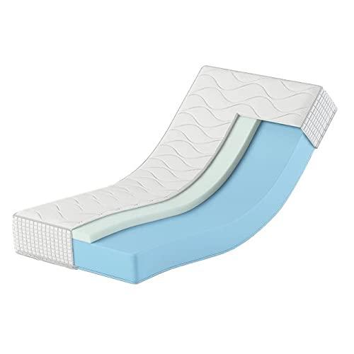 Karex Colchón de espuma con 7 zonas, 80 x 200 cm, altura de 25 cm, dureza H3 y H4, ortopédico