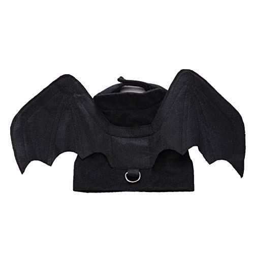 BWOGUE Pet Bat Wings Costume for Cat & Dog Pet Apparel Clothes for Halloween Party Large