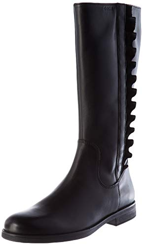 Geox Jr Agata A Mid Calf Boot, Schwarz (Black), 34 EU