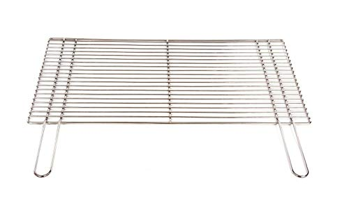 Grillrost 54 x 34 cm mit Griff aus Edelstahl 4 mm rostfrei und elektropoliert