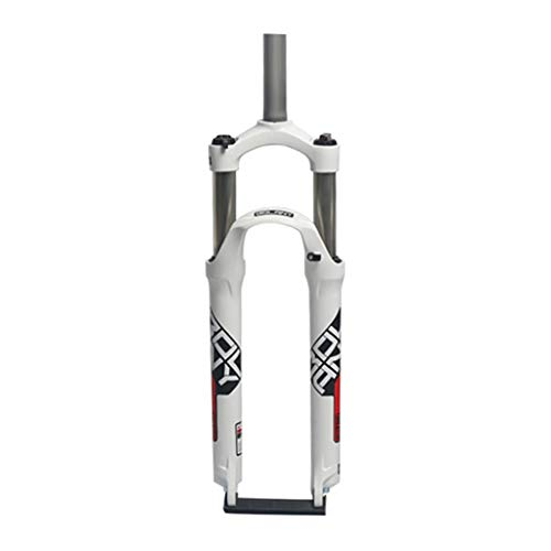 GYPING Spalla di Controllo (HL) Forcella Meccanica,Mountain Bike Forcella Anteriore Freno a Disco in Lega di Alluminio della Forcella della Sospensione 105 Millimetri di Viaggio,Red-26inch