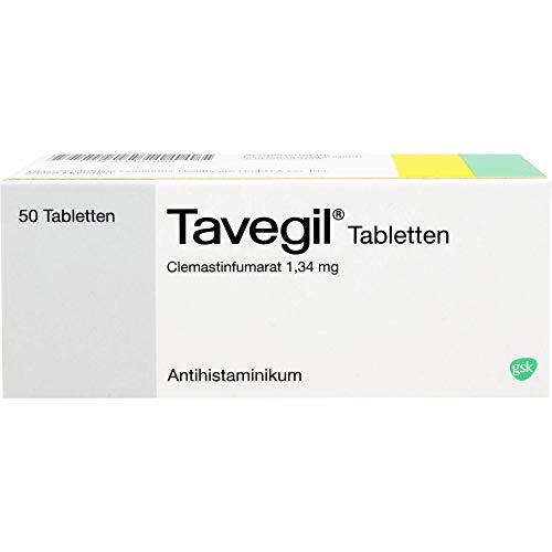 Tavegil Tabletten Antihistaminikum Reimport Kohlpharma, 50 St. Tabletten