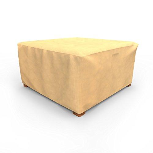 Budge p4 a02sf1 91 cm carré côté extérieur Toutes Saisons pour Table/Ottoman – Marron Clair