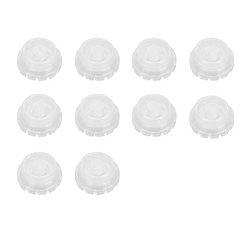 Support de colle d'extension de cils jetable, support de bague de cils 10Pcs avec Jags Quick Blossom Cup Anti Spill Extension de cils Colle Support adhésif