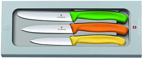 Victorinox Swiss Classic Gemüsemesser-Set, 3-tlg., Tomatenmesser Wellenschliff 11 cm, Gemüsemesser Wellenschliff 10 cm, Gemüsemesser 8 cm