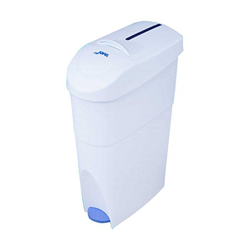 Jofel AM41000 - Contenedor sanitario femenino con pedal, 15 l, color blanco