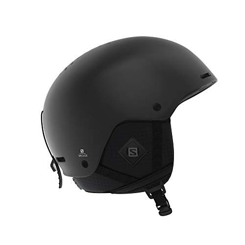 Salomon Brigade+, Casco da Sci e da Snowboard, Regolabile Uomo, Nero (all Black), M (56-59 cm)