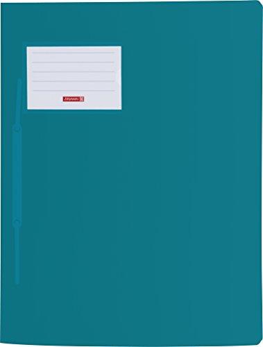 Brunnen 102015056 Schnellhefter FACT!pp, A4, aus transluzentem PP mit Namensschild mit Einstecktasche innen, türkis
