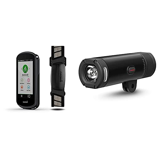 Garmin Edge 1030, GPS Cycling/Bike Computer, On-Device Workout Suggestions, ClimbPro Pacing Guidance and More & Varia UT 800 Smart Headlight Urban Edition with Dual Out-Front Mount