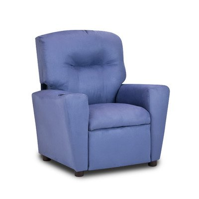 Kidzworld Home Indoor Children Grape Suede Kid's Recliner