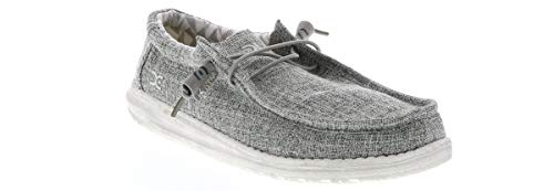 Hey Dude Men's Wally Linen Iron, Size 12   Men's Shoes   Men's Lace Up Loafers   Comfortable & Light-Weight